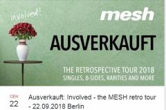 Отчёт: ретроспективный концерт Mesh в Берлине (22.09.2018)
